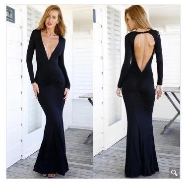 dluga sukienka czarna