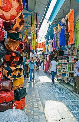 Alleyway in the Medina, Tunis - Tunisia