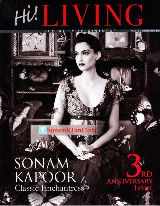Sonam Kapoor  - Sonam Kapoor on Hi! Living Magazine Cover 3rd Anniversary Issue