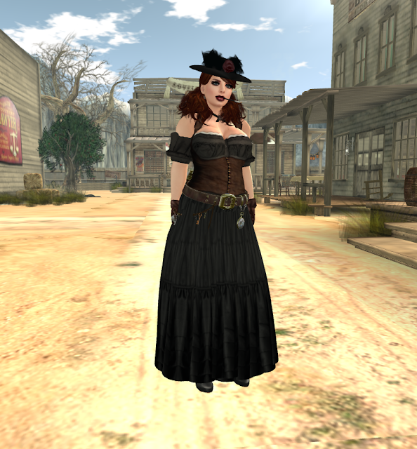 Steampunk Wild West dress