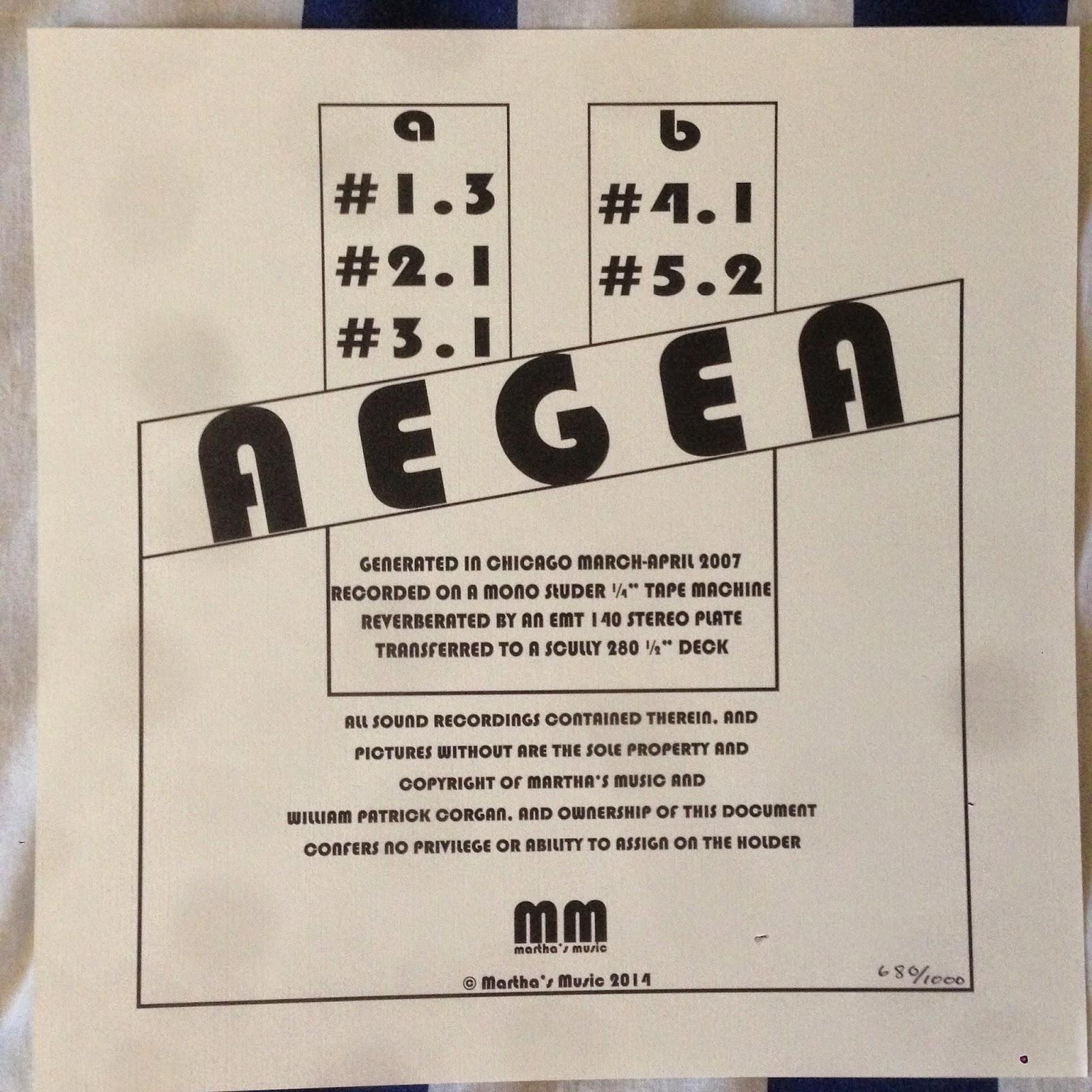 AEGEA by Billy Corgan