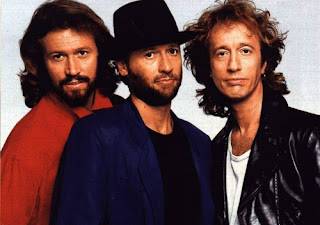 Robin Gibb (right) and the rest of his band The Bee Gees