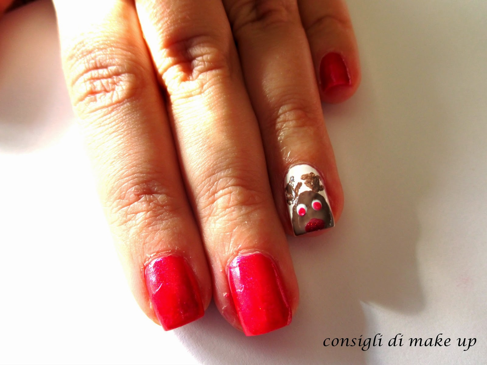 Nail Art: la Renna