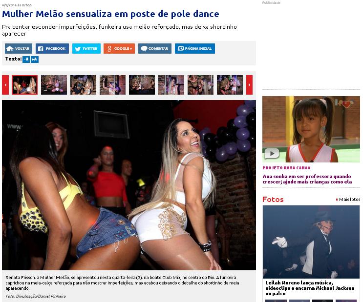 1 ano de Noite Trans...Sex com Mulher Melão SITE R7.COM