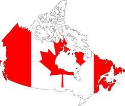 Canada-Flag map