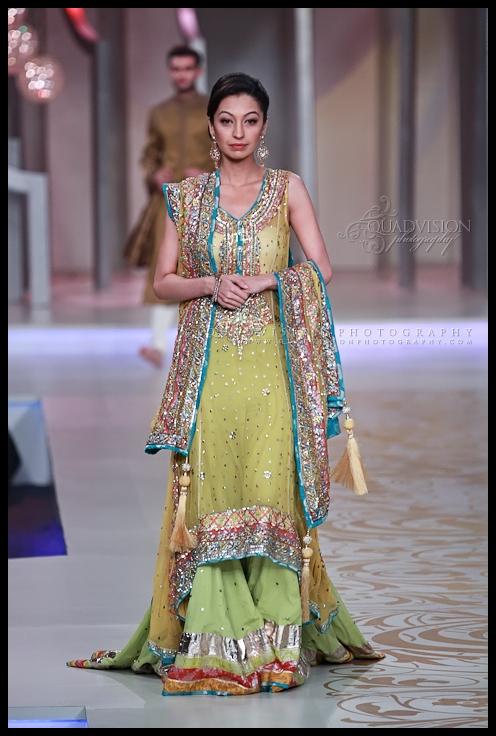 Bridal Couture Week Mehndi Dresses : Lajwanti collection at pantene bridal couture week