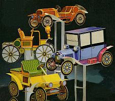 Papercraft Car Mickey, Donald, Goofy and Scrooge's