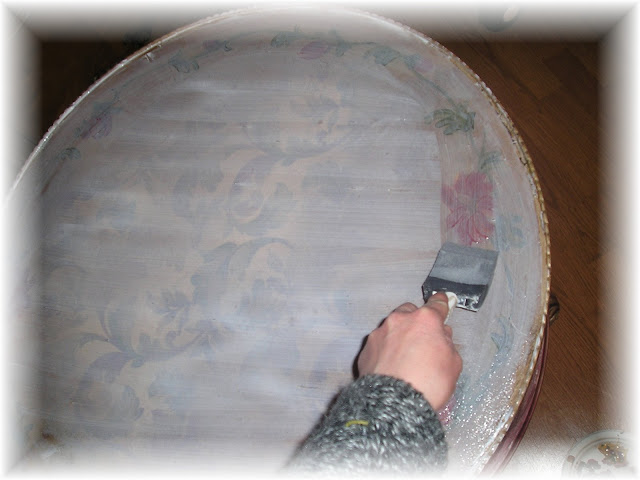 decoupage ideas for furniture. Go Over The Top Of Fabric To Decoupage It Onto A Table Ideas For Furniture