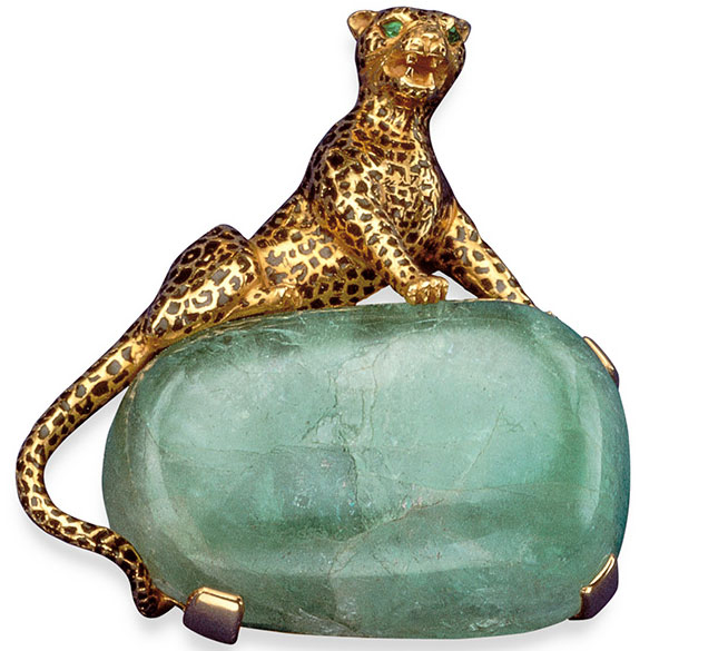 The Duchess of Windsor's first panther brooch, photo © Cartier, 1948