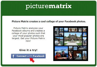 Picture matrix - создания коллажа из фотографий facebook | Connect with Facebook