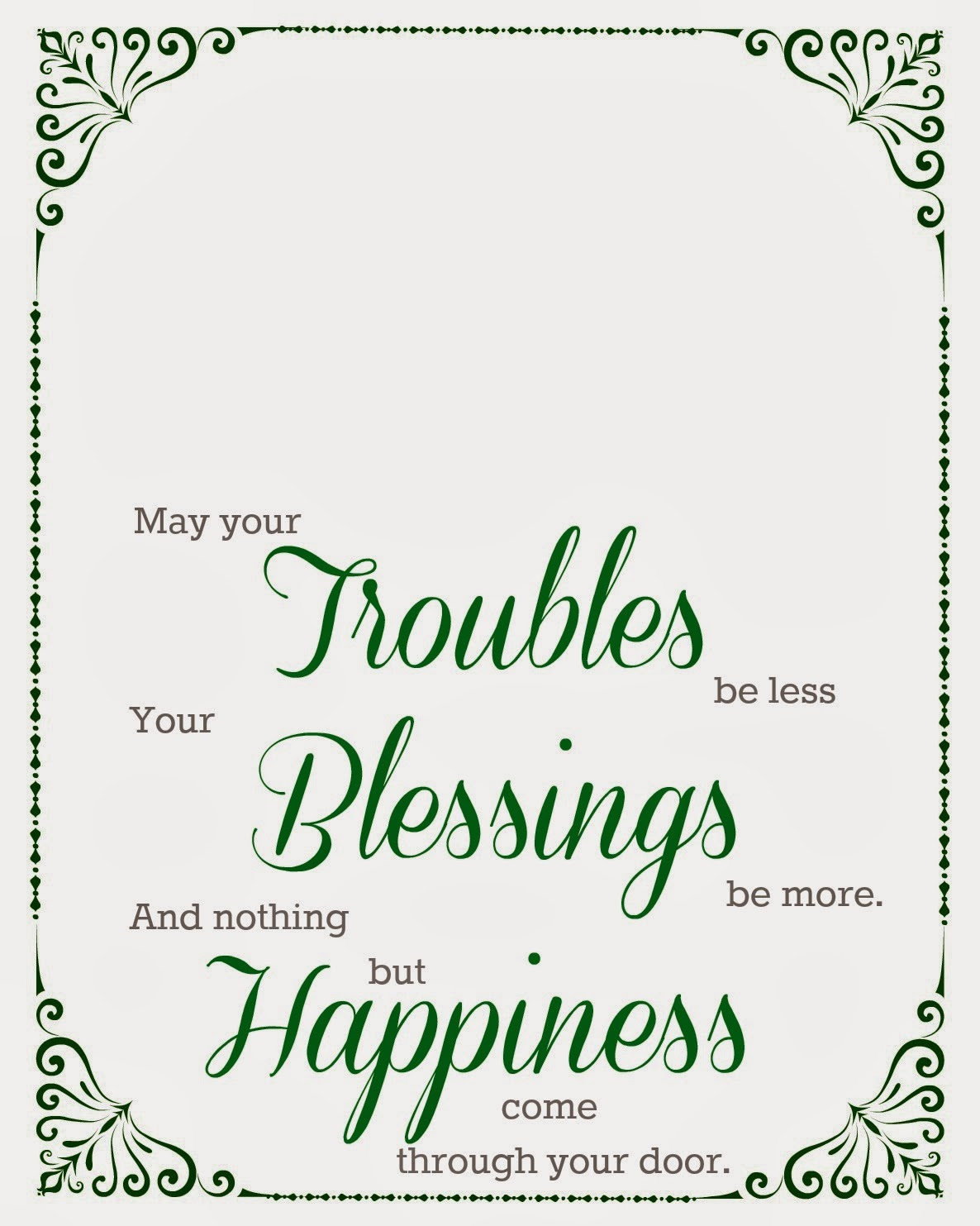 photo relating to Printable Irish Blessing titled Cunning within Crosby: Irish Blessing Printable