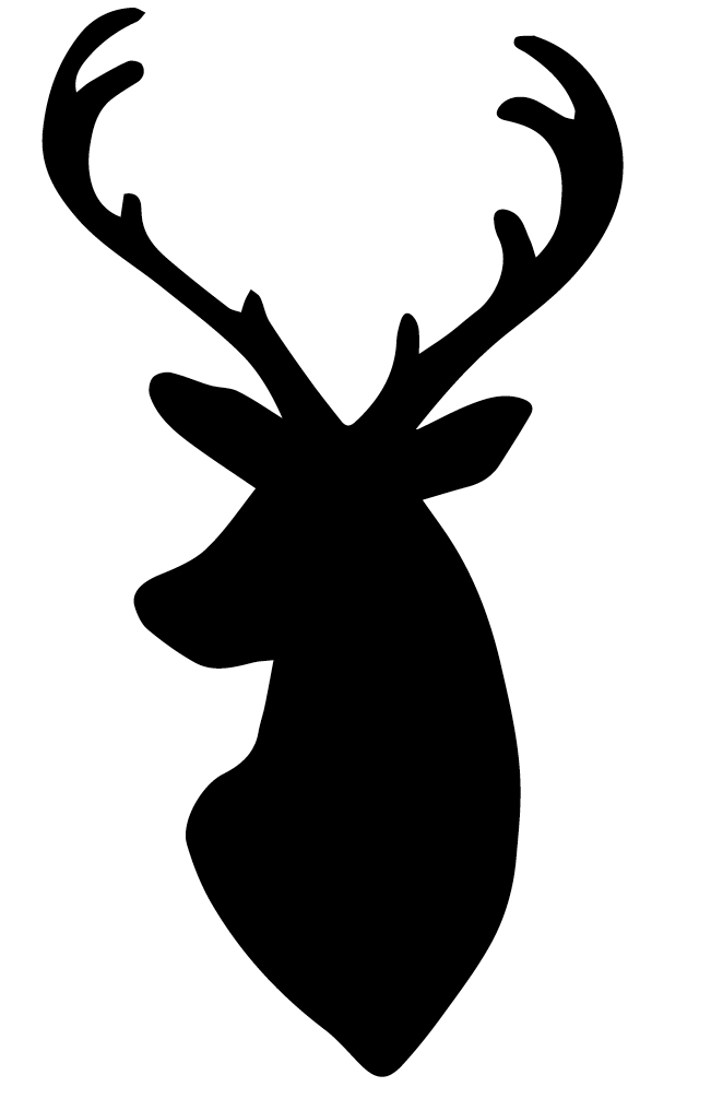 My dear husband whipped up this deer head silhouette pattern for me ...