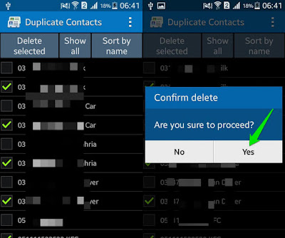 Remove Duplicate Contacts in Android via Duplicate Contacts