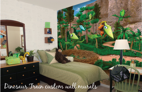 Inspired By Savannah Murals Your Way Savannah 39 S New Dinosaur Train Themed Room Review