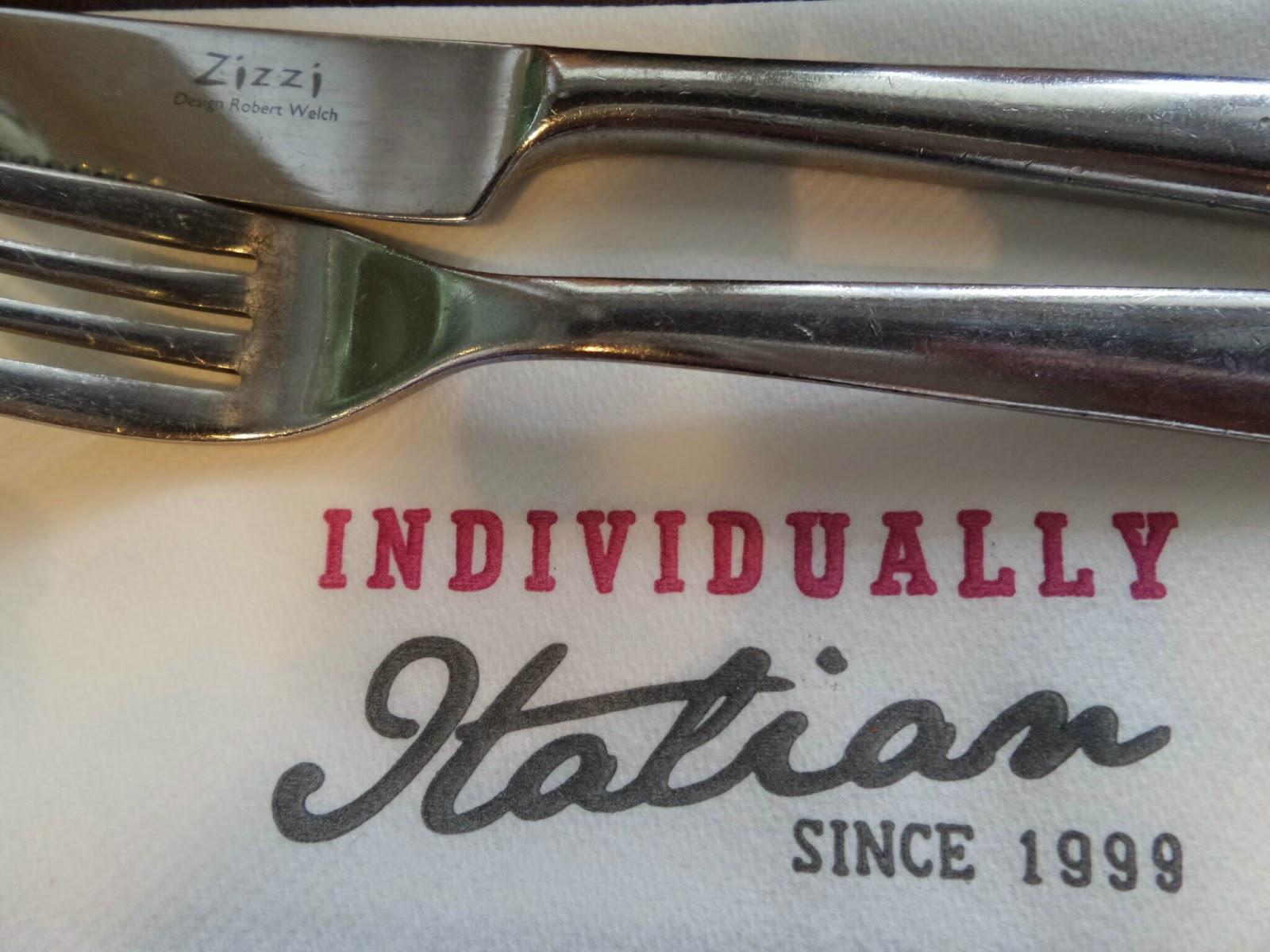 Zizzi Napkin and Cutlery