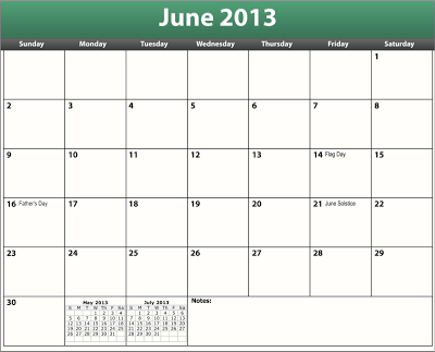 FREEISMYLIFE June 2013 Calendar - All the June FREE in 1 List