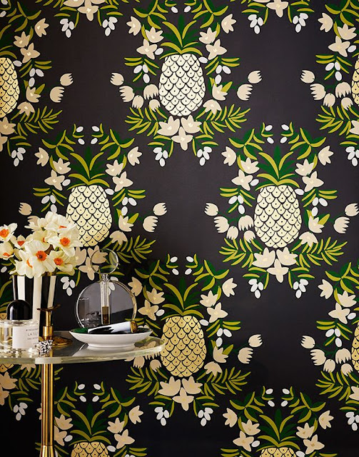 tendencia-decoracao-ananas-papel-parede