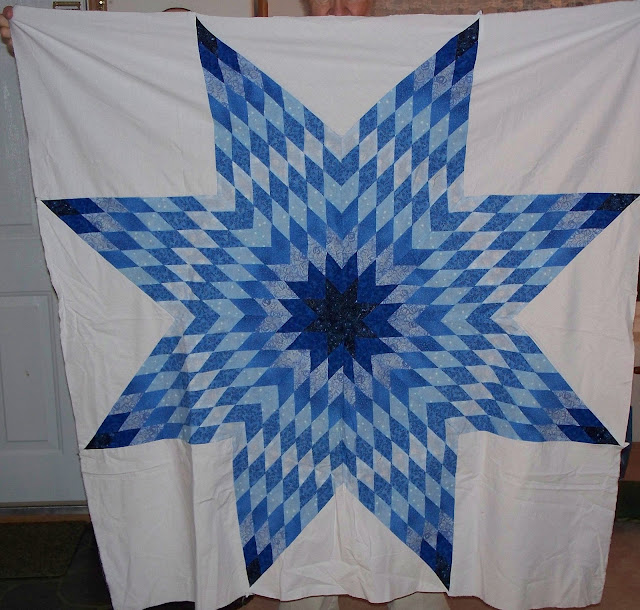 Quilting Pattern For Lone Star : Pieceful Afternoon: Lone Star Quilt Number Five - Jason