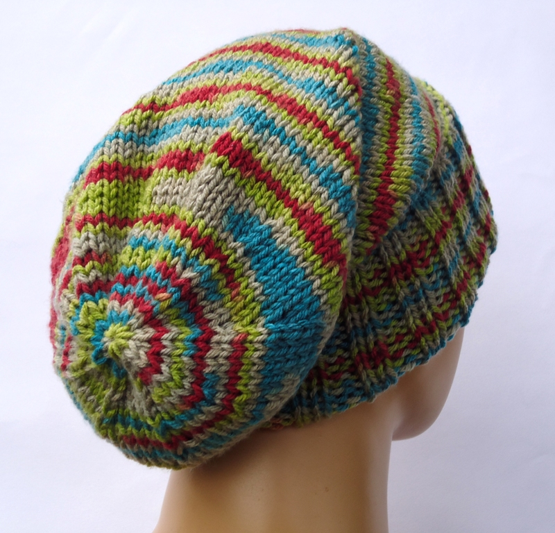 Knitting Patterns For Hats Using Circular Needles : Stitch of Love: Fancy sockhead hat