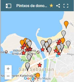 Mapa de pintxos