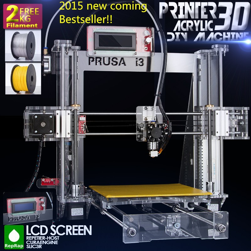 2015 Upgraded Quality High Precision Reprap Prusa i3 DIY 3d Printer kit with 2 Rolls Filament arduino pi ramblings  at creativeand.co