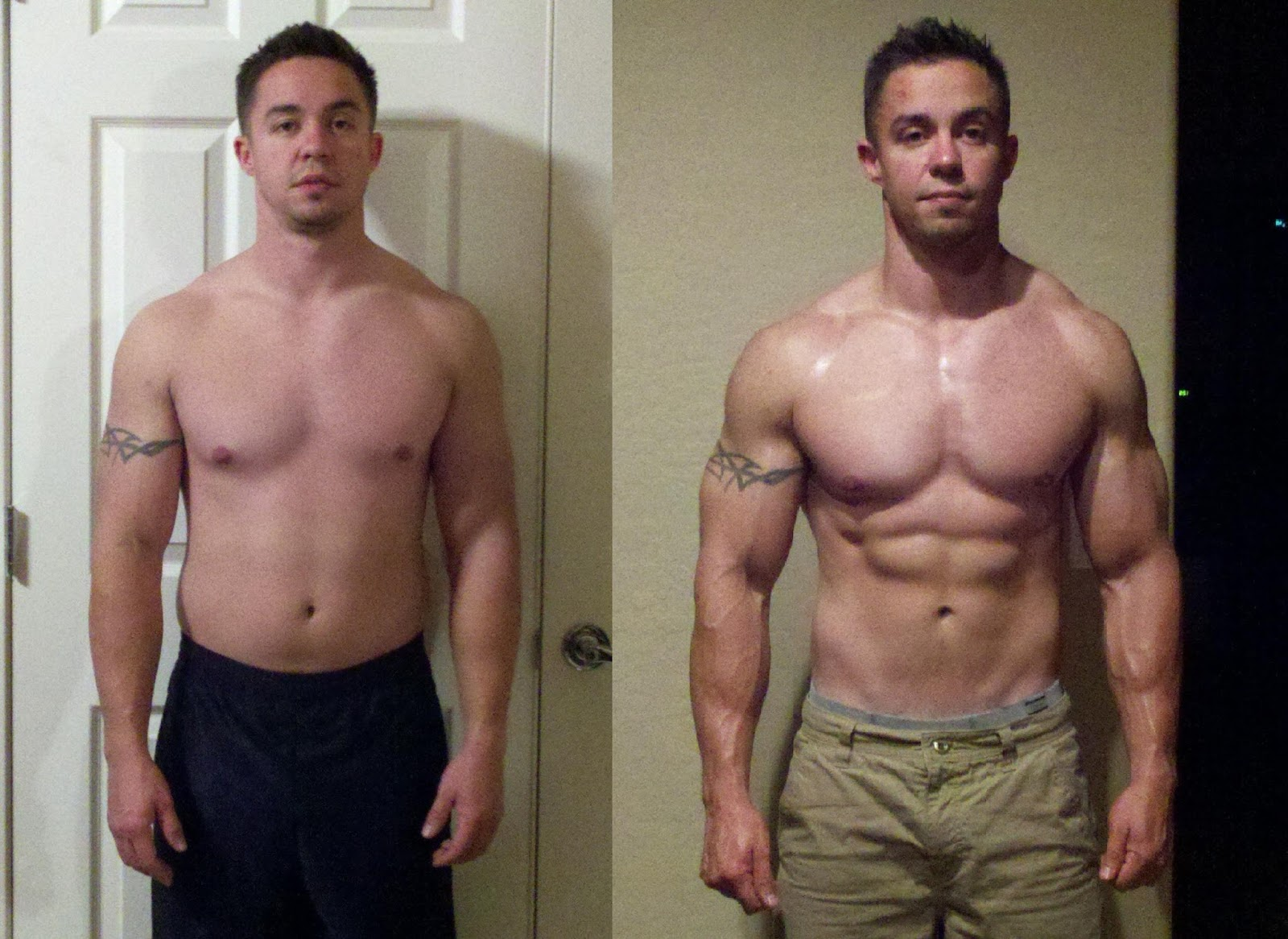 testosterone prop before and after
