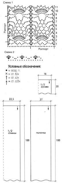 http://www.vyazemsami.ru// Кардиган Схема Выкройка