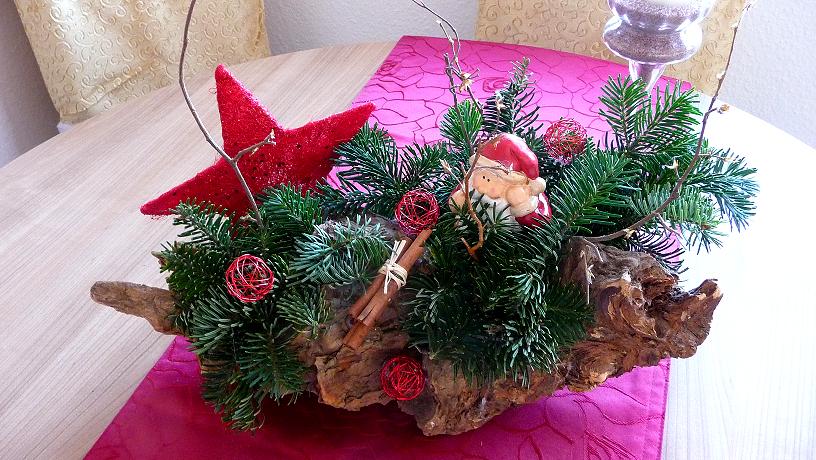 Alles rund um beauty familie selbstgemachte weihnachtsdeko for Gestecke basteln weihnachten