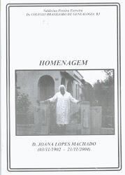 "Livreto ""Homenagem a D. Joana Lopes"""