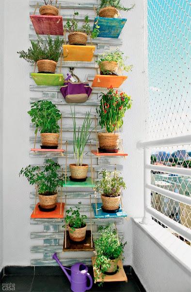 jardim vertical urbano:La idea del miércoles.un huerto en la pared Decoración / General