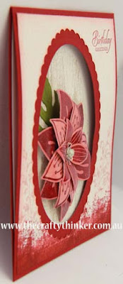 SU, Dimensional card, 3D paper flower, card making