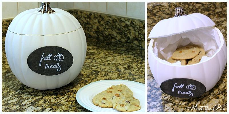 Fake pumpkin craft ideas- pumpkin treat jar!