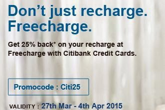 freecharge citibank offer