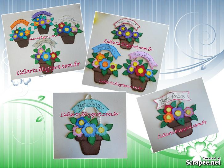Conhecido LIDIARTS****: Arte na Escola - Plaquinha Vaso de Flores DV93