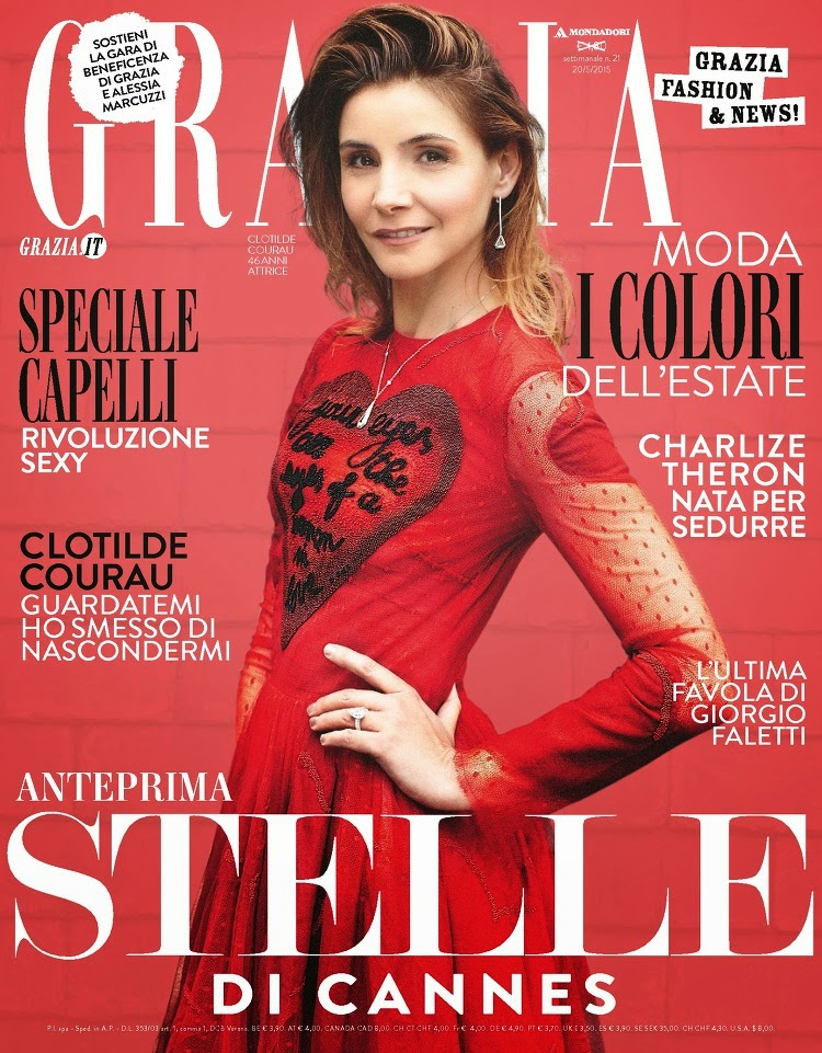 Actress @ Clotilde Courau - Grazia Italy, May 2015