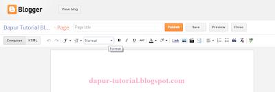Halaman Postingan Blank Page