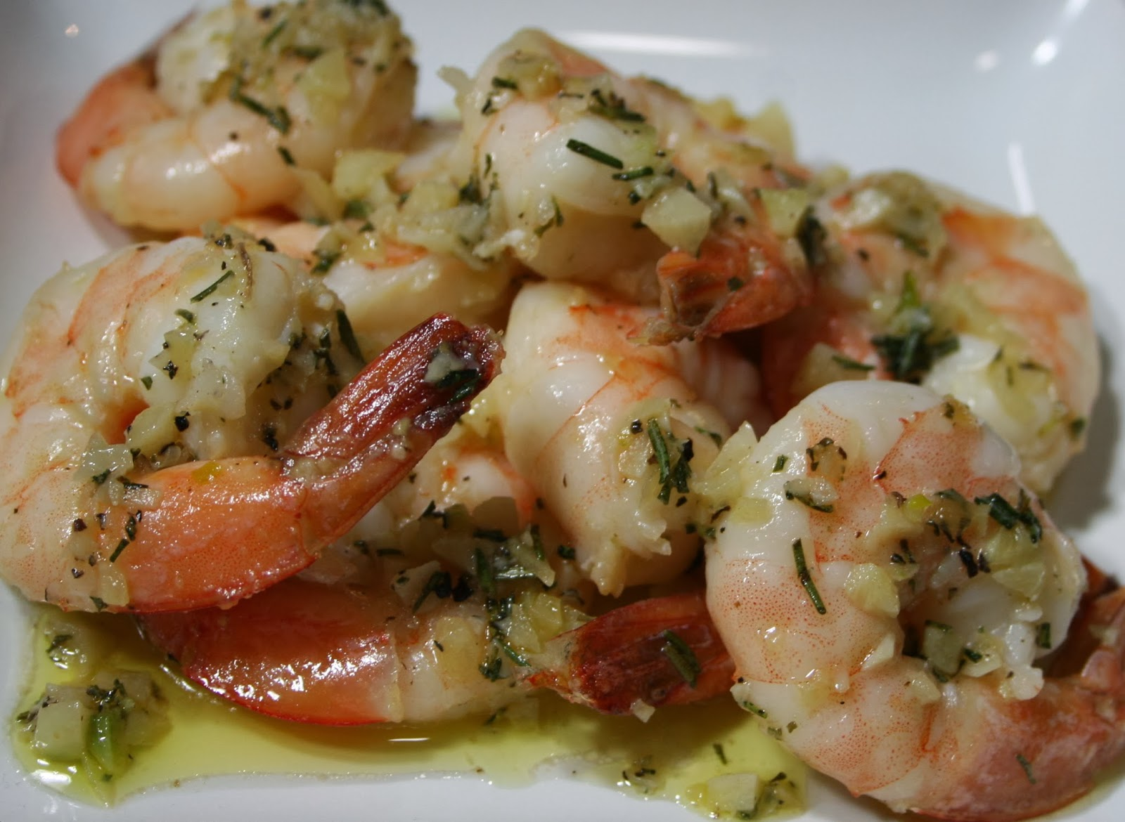 Just A Darling Life: Sauteed Shrimp in Butter, Garlic, and Rosemary