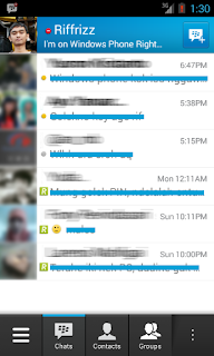 blackberry messenger baru saja memasuki pasar aplikasi android dan ios