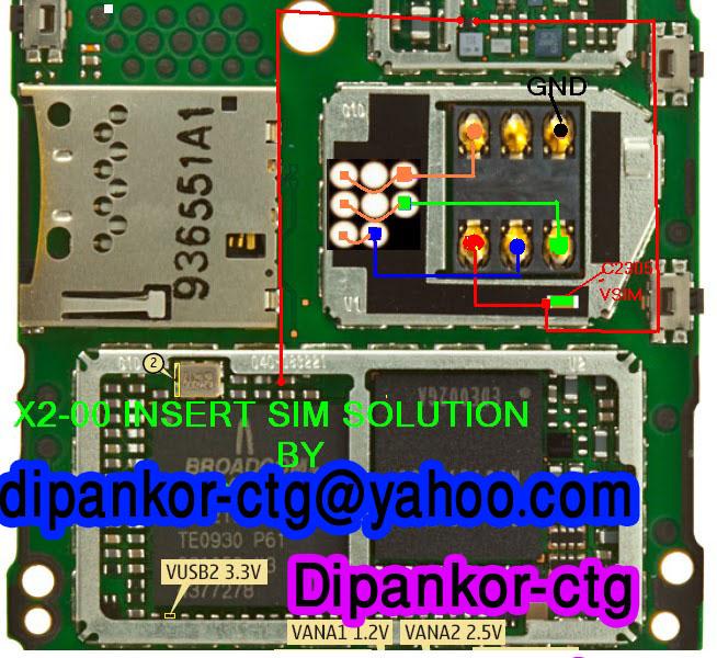 Nokia X2 00 Insert Sim Solution Jumper