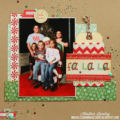 Meeting Santa_Christmas_Traditional Scrapbook