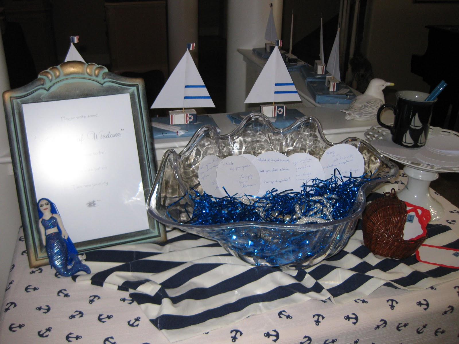 In Search of the Finer Things Nautical Baby Shower My First Ever