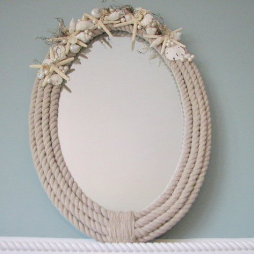 seaside style diy nautical rope mirror
