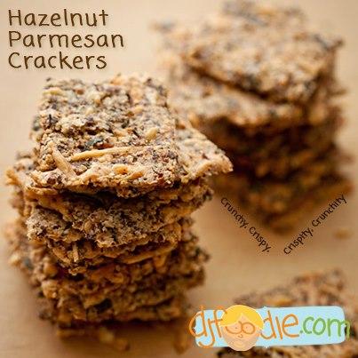 SPLENDID LOW-CARBING BY JENNIFER ELOFF: Hazelnut Parmesan Crackers