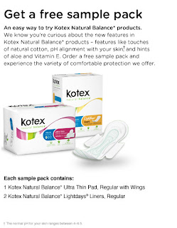 Kotex Natural Balance Sample Pack