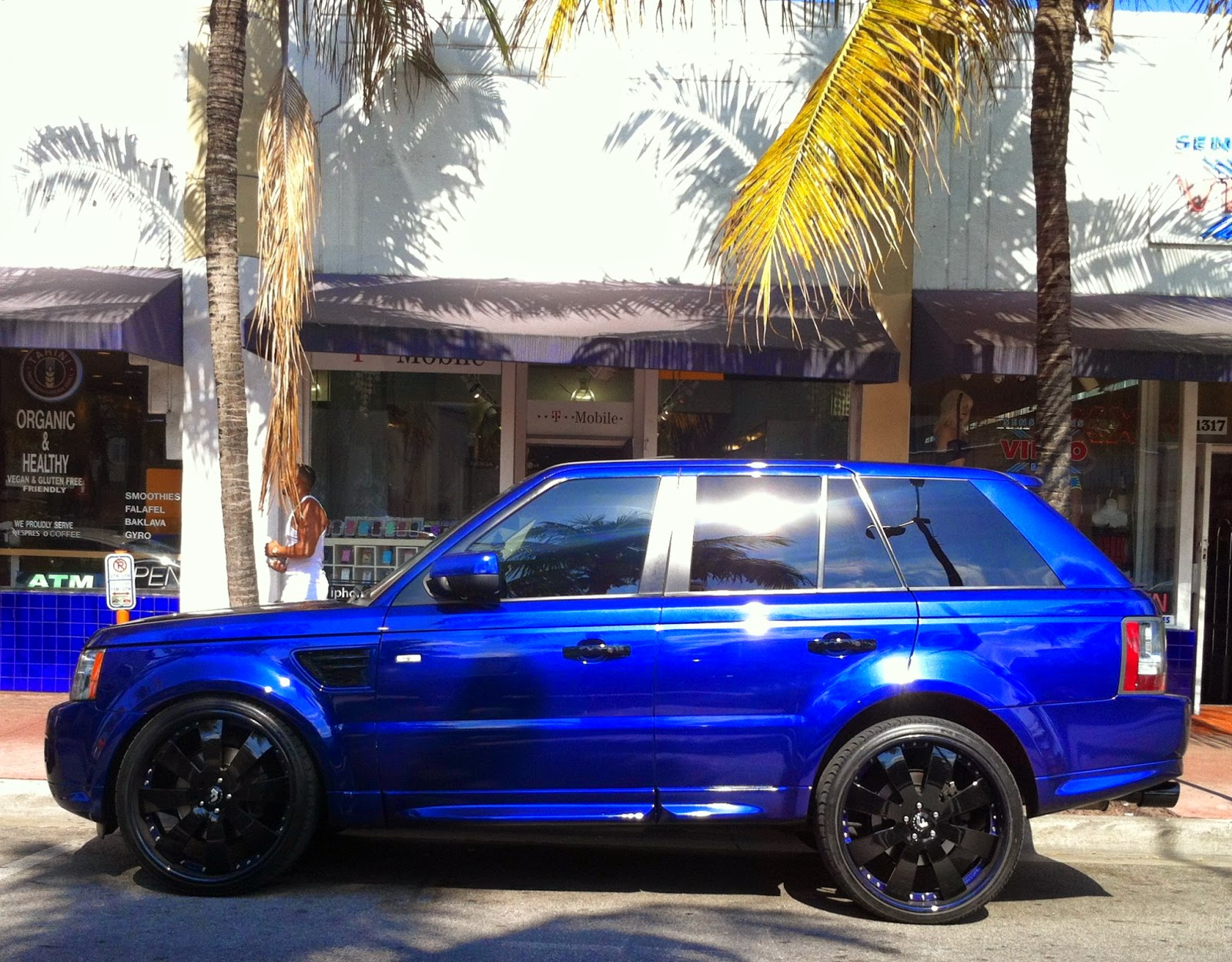 Blue range rover black rims exotic cars on the streets of miami blue range rover black rims freerunsca Image collections