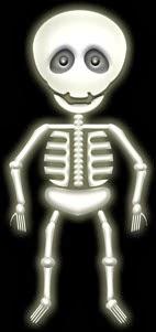 ハロウィンのイラスト・おどけた骸骨1