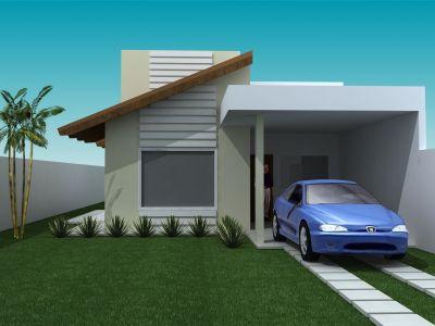 Casa pequena e bonita confira fotos usando moda for Modelo de casa pequena para construir