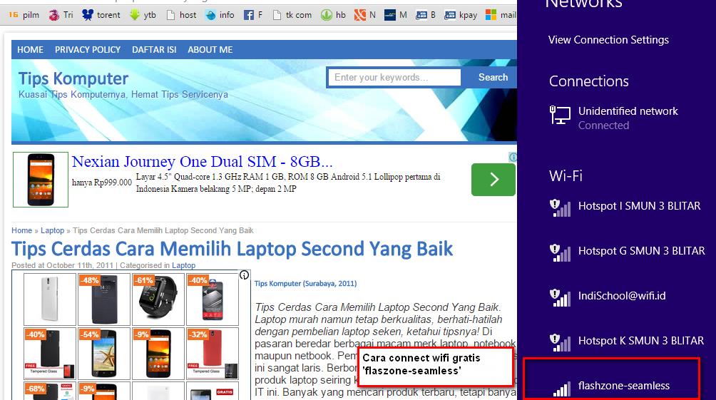 Cara Konek Flashzone Seamless Telkomsel Via Laptop Atau Pc Treqturbo 3g Dan Smartphone