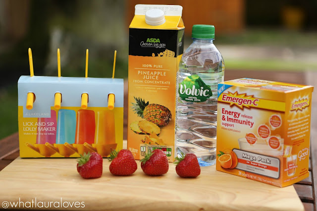 Summer Fruit Energy Lollies with Emergen-C