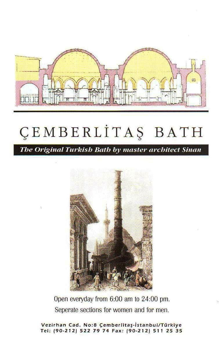 Baño Turco Arquitectura: baños turcos en estambul según un folleto que nos proporcionaron